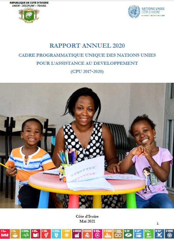 Rapport annuel 2020 - Cadre Programmatique des Nations Unies pour l'assistance au développement (CPU 2017-2020)
